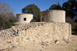 Modern reconstruction of stone huts of the design found at Choirokoita
