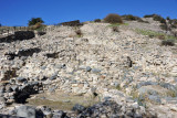 The neolithic village was built on the side of a small hill by the