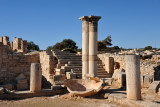 2 km west of Kourion, the Sanctuary of Apollo Ylatis was founded in the 8th C. BC
