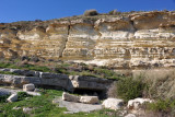 Cliff wall at the entrance to the ancient city of Kourion