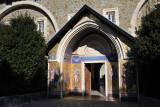 The mosaic covered main entrance to Kykkos Monastery