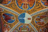 Painted ceiling inside the main entrance to Kykkos Monastery