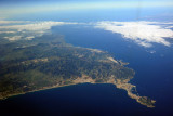 The Spanish enclave of Cueta, a peninsula in northern Morocco