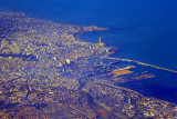 City center of Casablanca with the King Hassan II Mosque