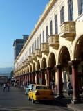 Arcade along Parque Libertad