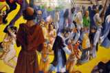 Mural - History of El Salvador - Introduction of Christianity