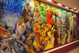 Large mural depicting the history of El Salvador