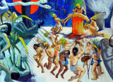 Mural - History of El Salvador - Pre-hispanic Period