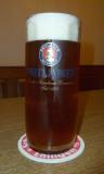Sol de Copan's wonderful dark beer (no, it's not Paulaner...just the glass)