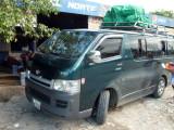 The tourist shuttle bus to Guatemala