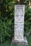 Reproduction of a stele at a Copan Ruinas hotel