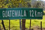 12 km from Copan to Guatemala