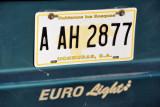 A yellow Honduran license plate