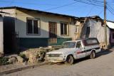 An old pickup, Calle Yaruga, Copan Ruinas