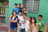 Friendly kids in the town of Copan Ruinas, Honduras