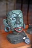 Modern reproduction of a Mayan Jade mask