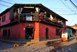 Just what I was looking for - a balcony with a sunset view, cold beer and free internet - Twisted Tanya's in Copan Ruinas