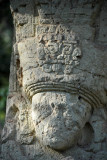 Detail of the face of Stele 6