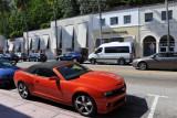 A red Camaro convertible, Collins Avenue