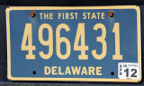Delaware - the First State - License Plate