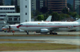 Spain's Air Force One at Guatemala City Airport