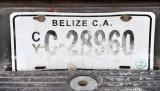 Belize License Plate, Flores, Guatemala