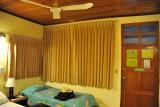 Guest room of the Jaguar Inn, Tikal