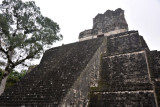 The 38m tall Templo II, however, can be climbed using a wooden staircase on the south side