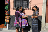 Girls in traditional clothing, Chichcastenango