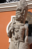 Mayan Warrior in front of the National Archaeological Museum