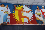Mural in lobby of the National Museum of Archaeology and Ethnology, Guatemala City
