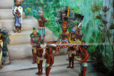 Diorama of Mayan Rituals - the Ruler being carried