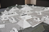 Model of the archaeological site of Zaculeu, Guatemala