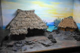 Ethnographic section of the museum - village diorama
