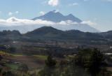 A glance back at the volcanos around Antigua