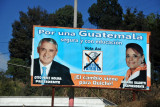 Election billboard for the recently elected president of Guatemala, Pérez Molina and VP Roxana Baldetti