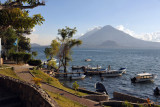The twin volcanoes, Tolimán and Atitlán
