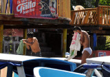 Boys toweling off after bathing in the lake at San Pedro