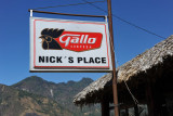 Nick's Place serving Guatemala's most popular beer, Gallo