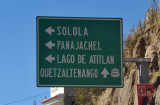 The turn off the Panamericana for Panajachel and Sololá