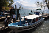 The public boats are the best way to get around Lake Atitlan