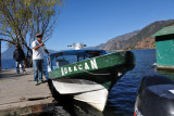 Huracan - one of the many public boats called lanchas that service the villages around Lake Atitlan