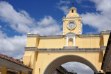 The clock was added to the Arch of Santa Catalina in teh 1830s
