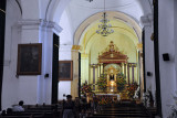 Of the vast cathedral, only this small front portion, reoriented north-south, was rebuilt as the Parish Church of San José
