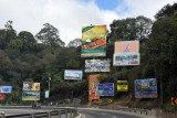Billboards at the exit for Antigua Guatemala