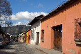 Entering the old colonial city of Antigua Guatemala, a UNESCO World Heritage Site