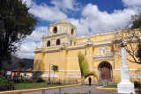The Church of  Nuestra Señora de la Merced sits on the northeast corner of a shady plaza