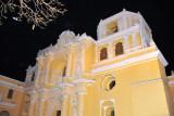 Well illuminated Church of Nuestra Señora de la Merced