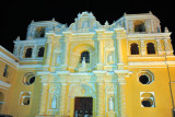 Church of Nuestra Señora de la Merced at night