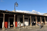 Arcaded walkway on the north side of Antigua Guatemala's Parque Central